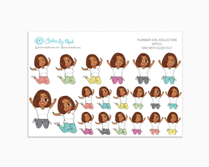 Mia With Sleek Cut - Joyful Planner Stickers