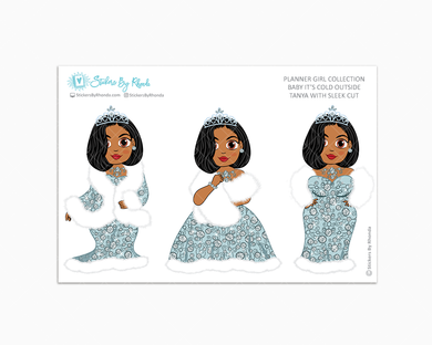 Tanya With Sleek Cut - Limited Edition - Baby It's Cold Outside - Planner Girl Stickers