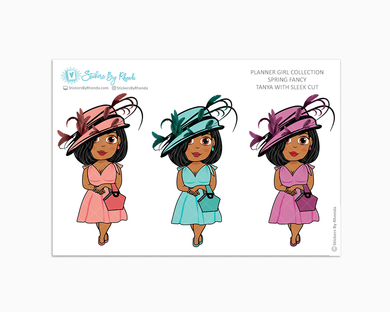 Tanya With Sleek Cut - Spring Fancy - Limited Edition - Planner Girl Collection - Planner Stickers