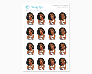 Sleek Cut Jackie - Spa Day - Manicure - Self-Care Stickers