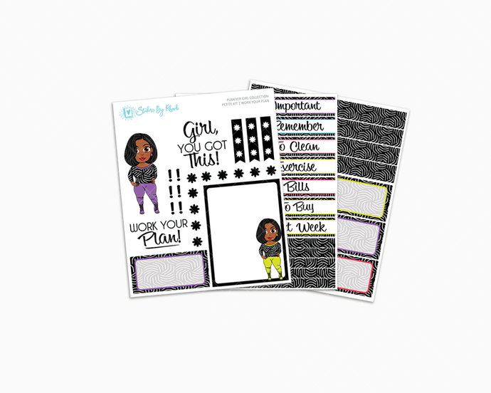 Jackie with Sleek Cut -  Work Your Plan Petite Kit - Planner Girl Collection