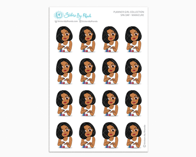 Sleek Cut Tanya - Spa Day - Manicure - Self-Care Stickers