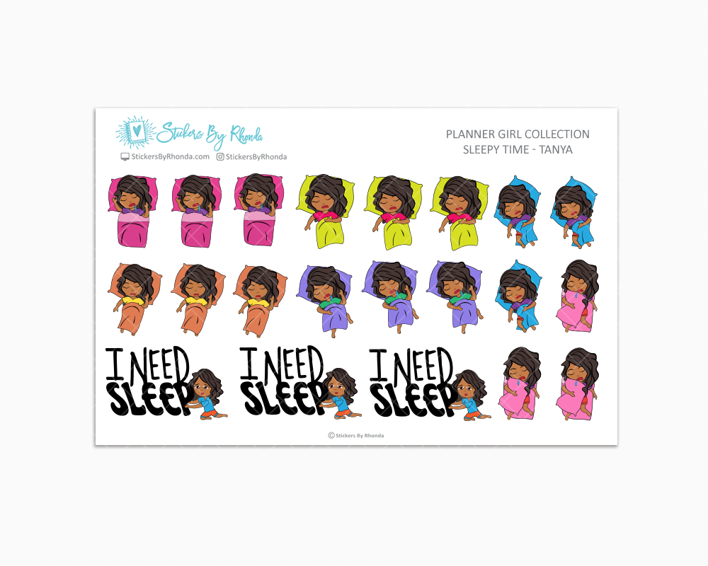 Sleepy Time Planner Stickers - Tanya