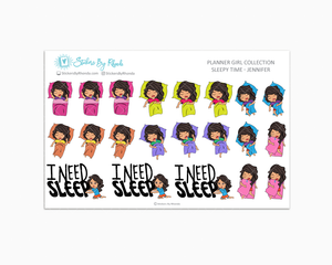 Sleepy Time Planner Stickers - Jennifer