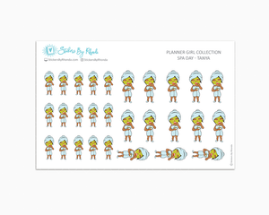 Spa Day Planner Stickers - Tanya
