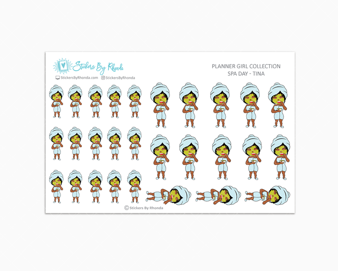 Spa Day Planner Stickers - Tina