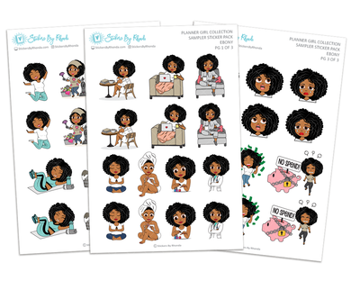 Ebony - Sampler Sticker Pack - Planner Girl Collection