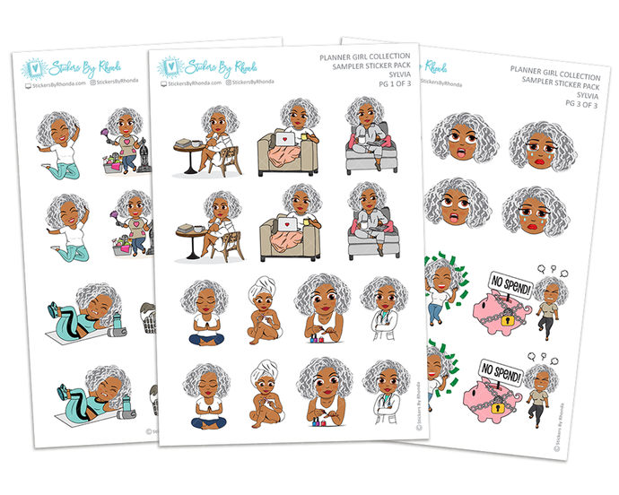 Sylvia - Sampler Sticker Pack - Planner Girl Collection