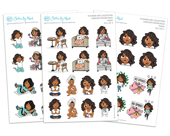 Tanya - Sampler Sticker Pack - Planner Girl Collection
