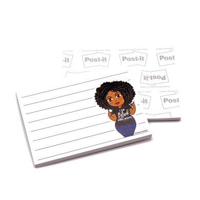 Ebony Black Every Month Post-it® Notes - Sticky Notes