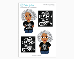 Sylvia - Hella Black - Limited Edition - Planner Girl Collection