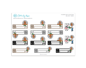 Sylvia - Bill Due Boxes Planner Stickers