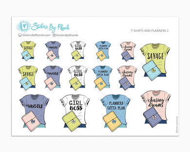 T-Shirts and Planners 2 - Decorative Planner Stickers