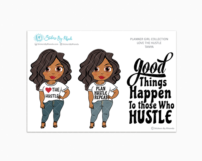 Tanya - Love The Hustle - Limited Edition - Planner Girl Stickers