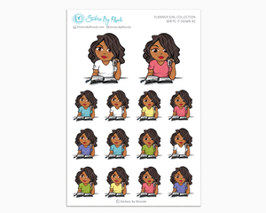 Tanya - Write It Down #2 - Planner Girl Collection - Planner Stickers
