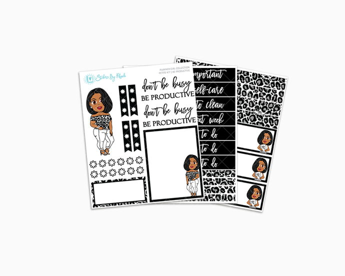 Tanya With Sleek Cut - Be Productive - Petite Kit - Planner Girl Collection