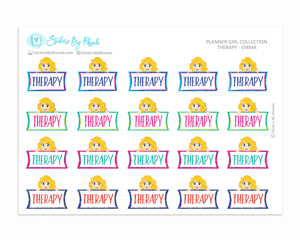 Therapy Planner Stickers - Emma
