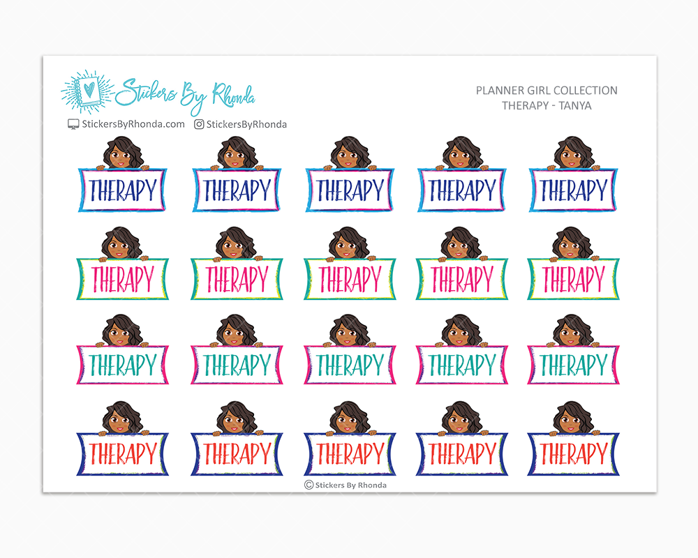 Therapy Planner Stickers - Tanya