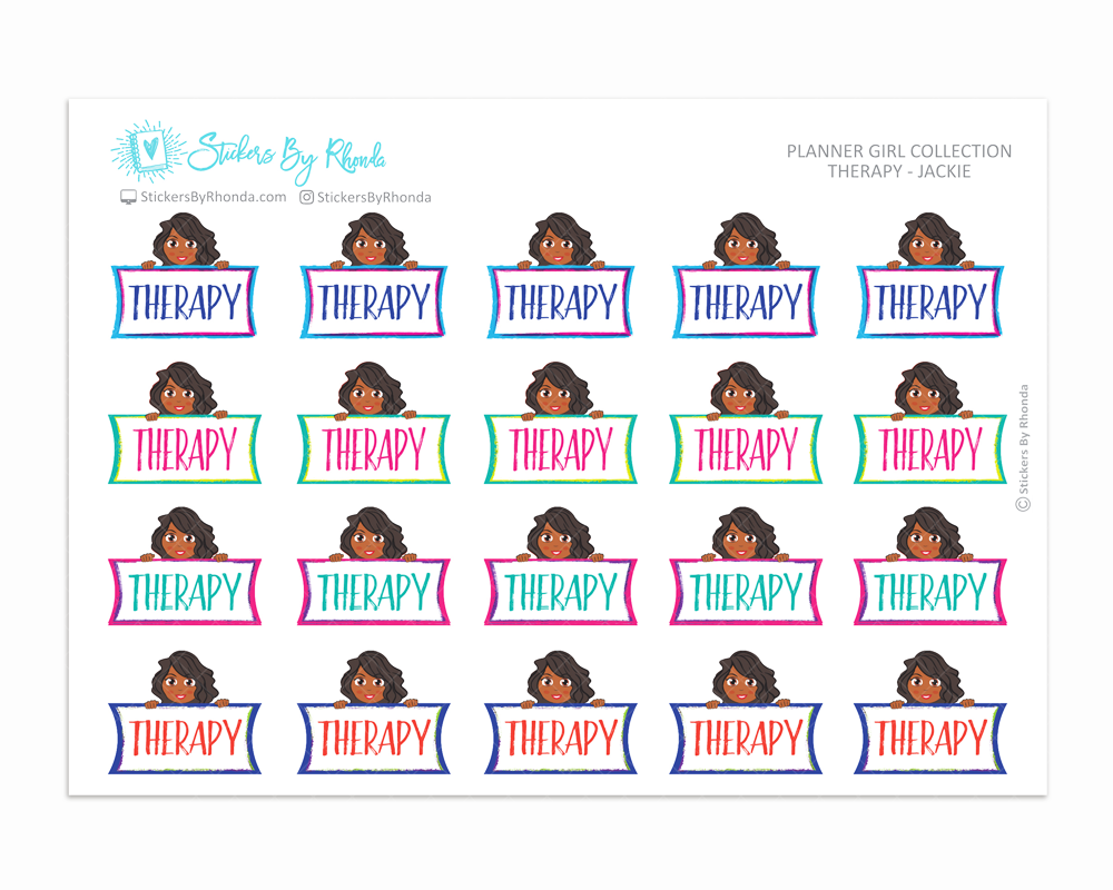 Therapy Planner Stickers - Jackie