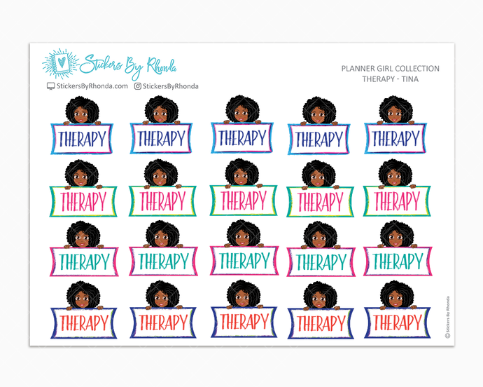 Therapy Planner Stickers - Tina