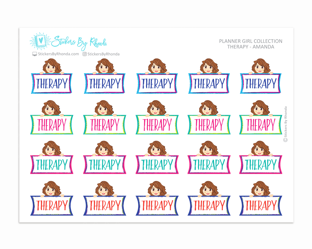 Therapy Planner Stickers - Amanda