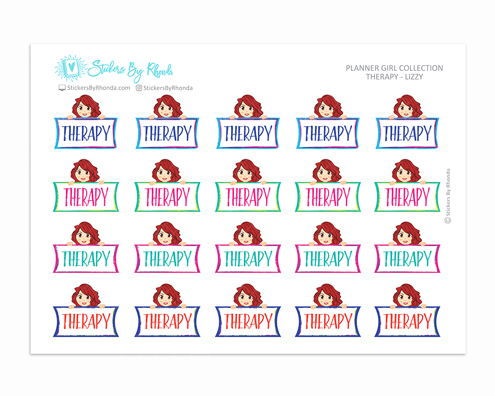 Therapy Planner Stickers - Lizzy