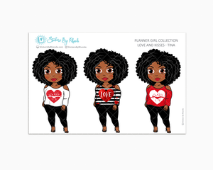 Tina - Love and Kisses - Limited Edition - Planner Girl Collection - Valentine's Day Stickers