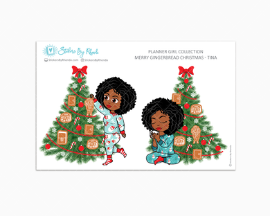 Tina - Merry Gingerbread Christmas - Planner Girl Collection - Limited Edition - Christmas Stickers