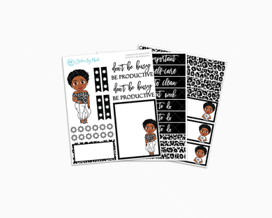 Tina With Sassy Cut - Be Productive - Petite Kit - Planner Girl Collection
