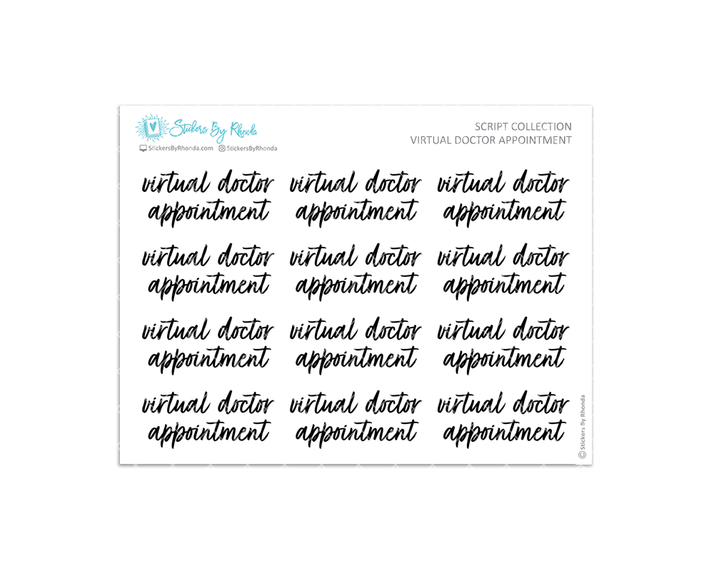 Virtual Doctor Appointment Stickers - Script Collection