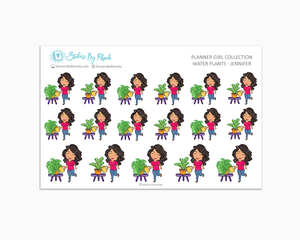 Water Plants Planner Stickers - Jennifer