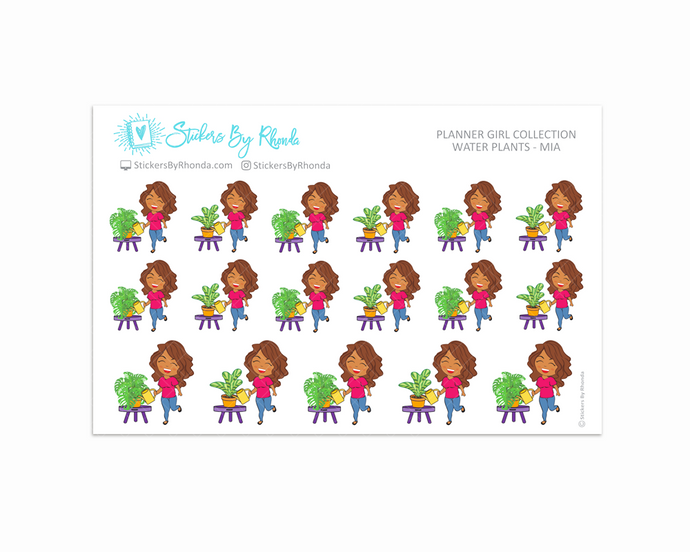 Water Plants Planner Stickers - Mia