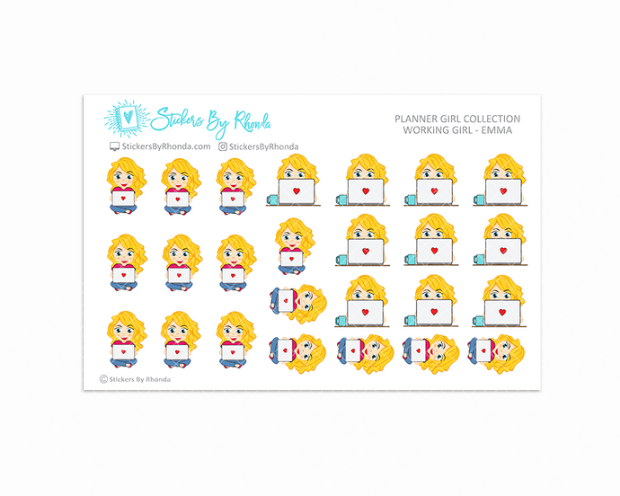 Working Girl Planner Stickers - Emma