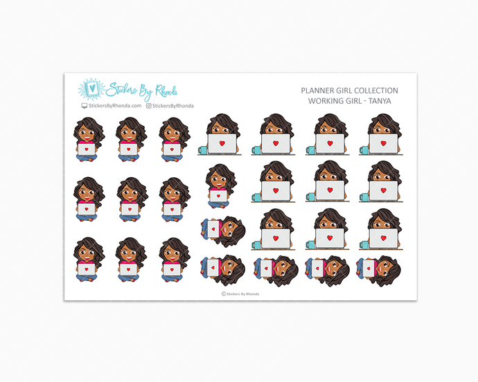Working Girl Planner Stickers - Tanya