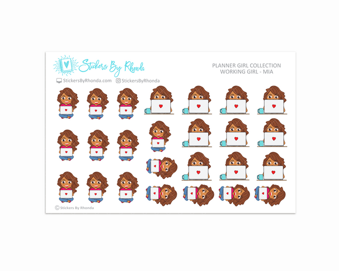 Working Girl Planner Stickers - Mia