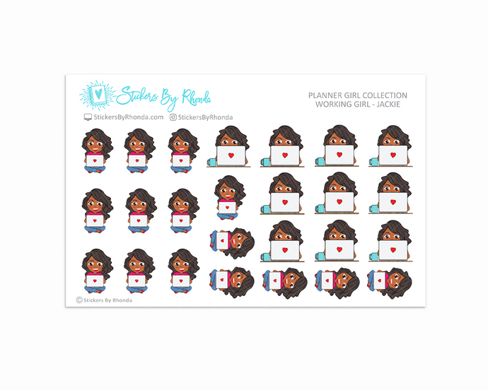 Working Girl Planner Stickers - Jackie