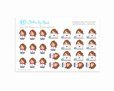 Working Girl Planner Stickers - Amanda