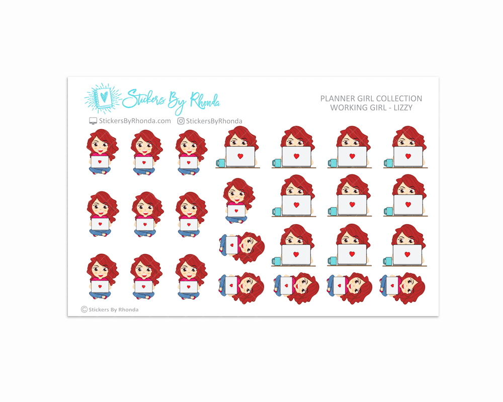 Working Girl Planner Stickers - Lizzy