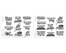 You Matter - Inspirational Quote Planner Stickers - Word Art Collection