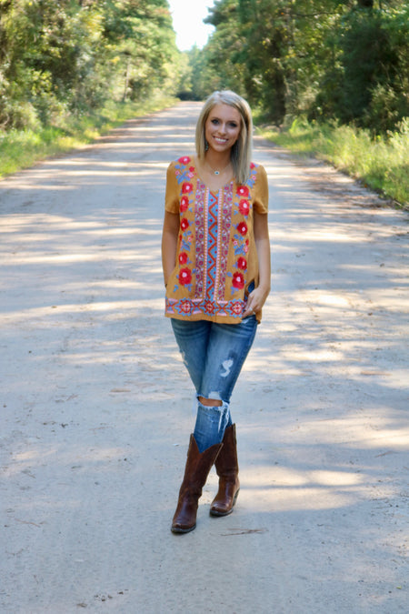 Coral Lace Criss Cross Top