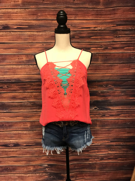 Red Criss Cross Top