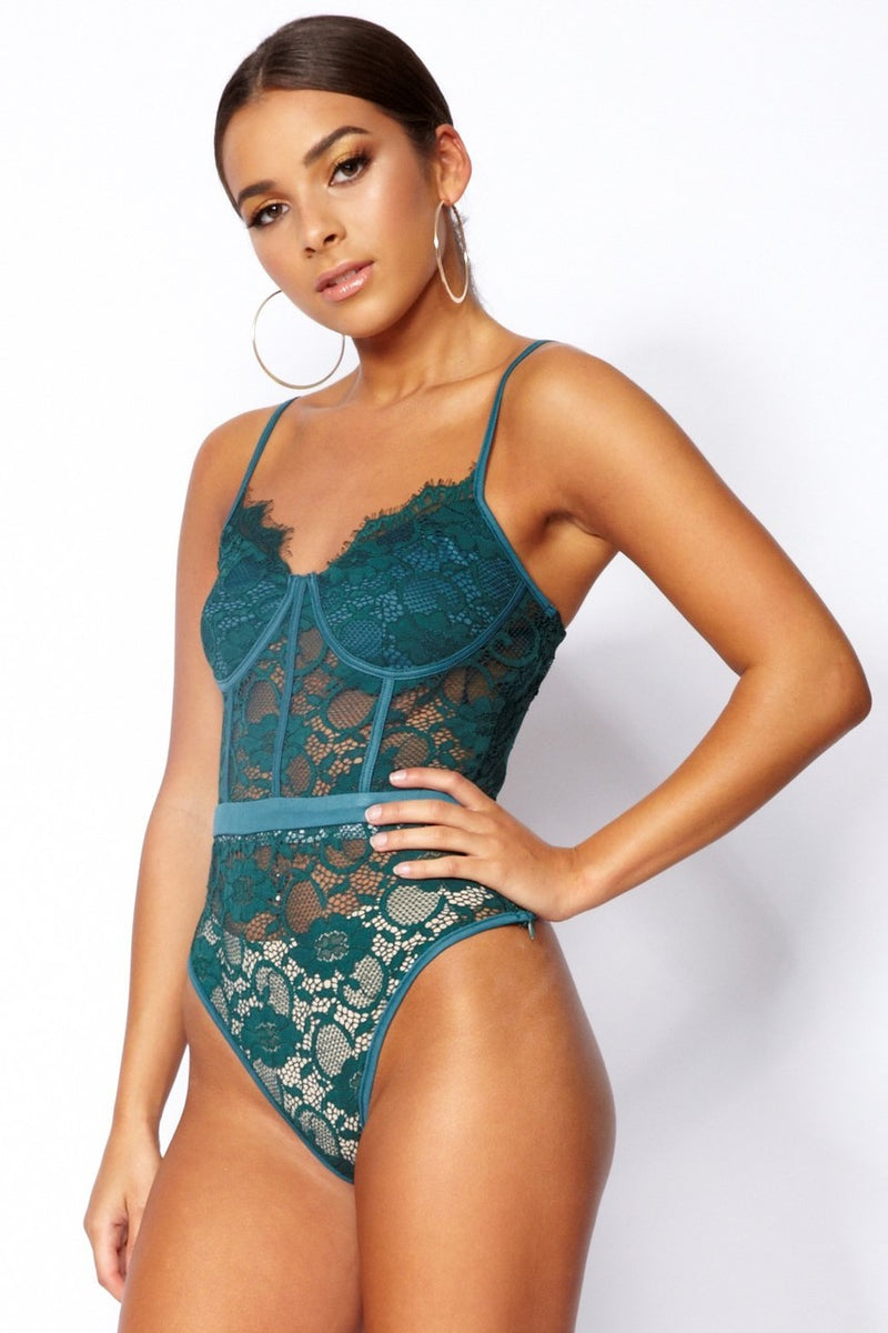 Anna Bodysuit- Green