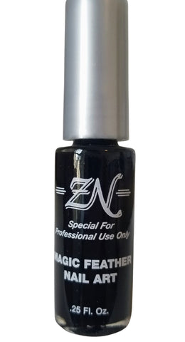 Magic Feather Nail Art - Black - Tru-Form Nails & Cosmetics