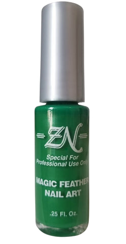 Magic Feather Nail Art - Green - Tru-Form Nails & Cosmetics