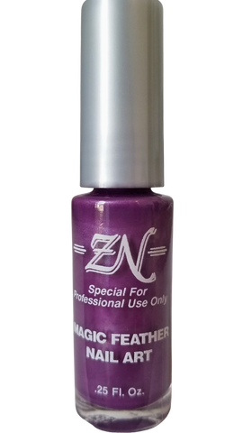 Magic Feather Nail Art - Purple - Tru-Form Nails & Cosmetics