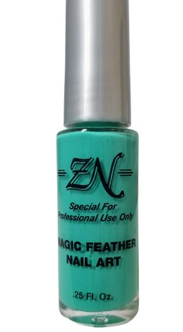 Magic Feather Nail Art - Teal - Tru-Form Nails & Cosmetics