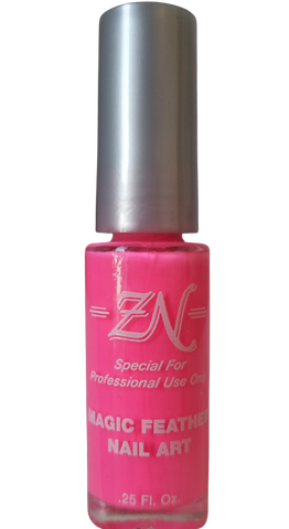 Magic Feather Nail Art - Neon Pink - Tru-Form Nails & Cosmetics