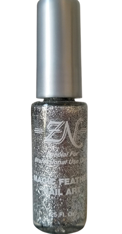 Magic Feather Nail Art - Silver Glitter - Tru-Form Nails & Cosmetics