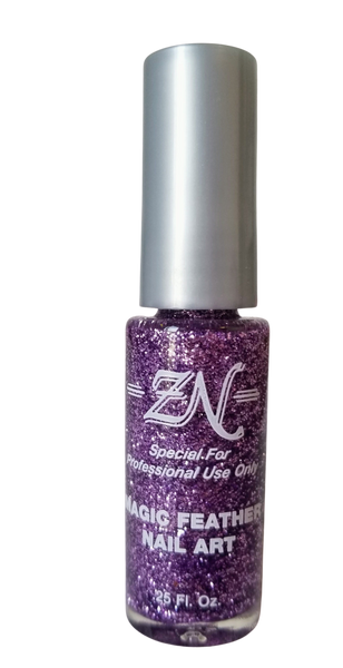 Magic Feather Nail Art - Purple Glitter - Tru-Form Nails & Cosmetics
