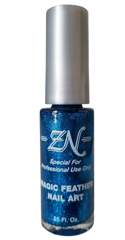 Magic Feather Nail Art - Blue Glitter - Tru-Form Nails & Cosmetics